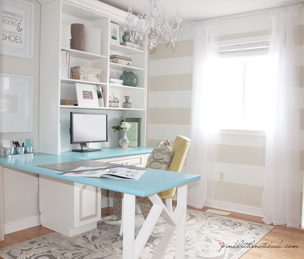 painted stripes in home office
