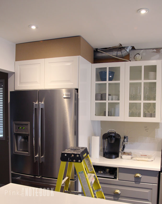 Diy How To Disguise A Kitchen Soffit Pink Little Notebook