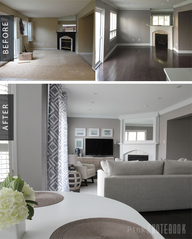 Family Room Gets A Cozy Makeover: Before & After
